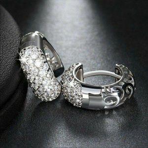 2651594e7 Jewelry - New 925 silver diamond Cz hoops earrings